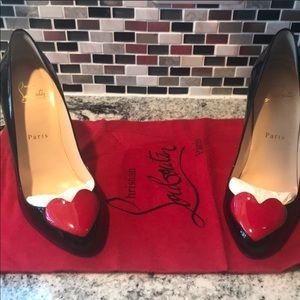 Beautiful patent leather heels